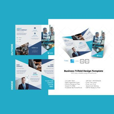 Business: Multipurpose business trifold brochure design template #08600