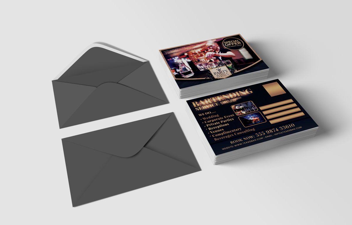 Bartending Service PostCard Template, Slide 2, 08602, Business — PoweredTemplate.com
