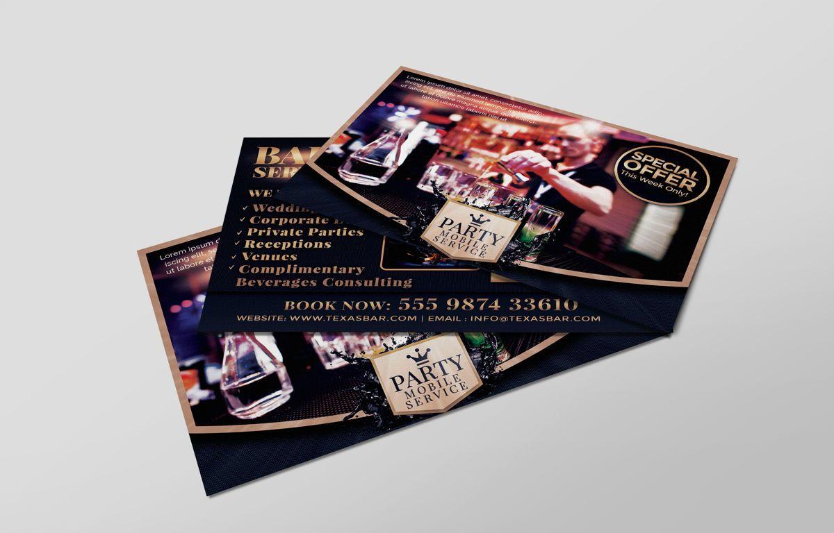 Bartending Service PostCard Template, Slide 6, 08602, Business — PoweredTemplate.com