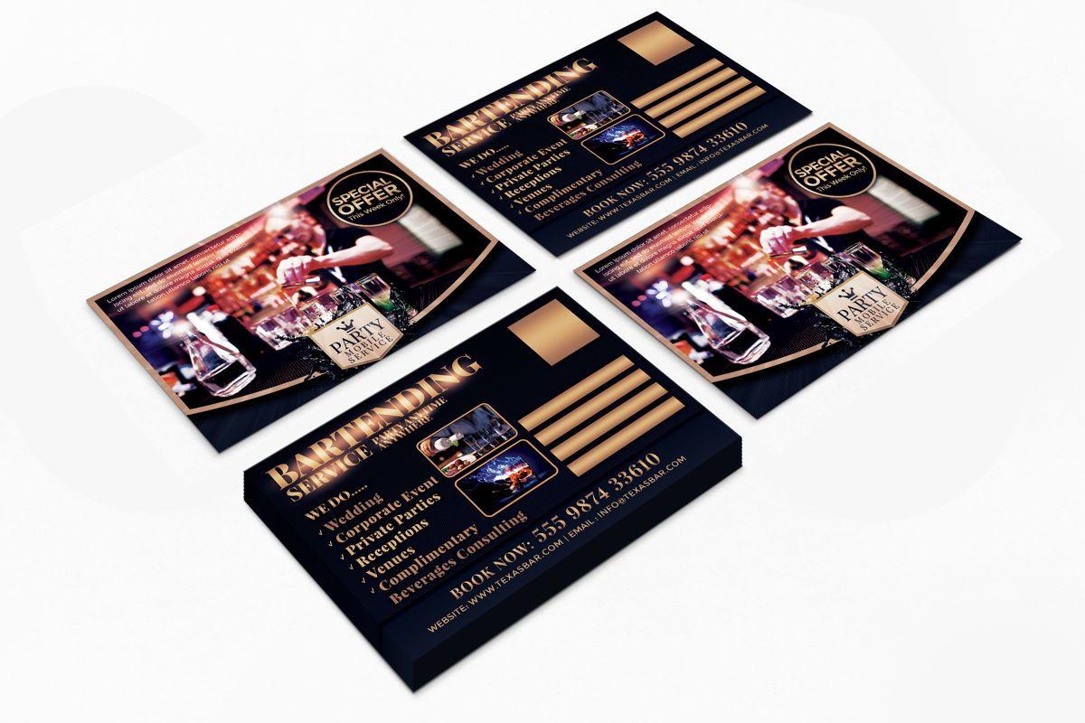 Bartending Service PostCard Template, Slide 8, 08602, Business — PoweredTemplate.com