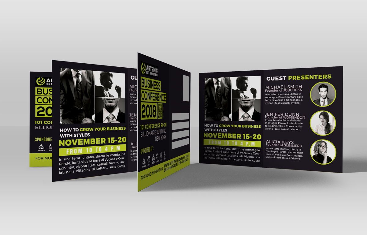 Business Conference PostCard Template, Slide 3, 08603, Business — PoweredTemplate.com