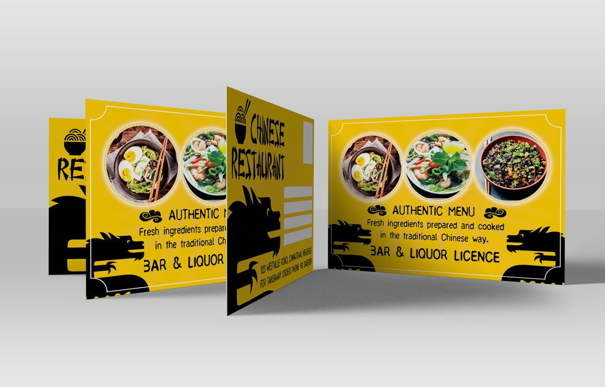 Chinese Food Restaurant PostCard Template, Slide 3, 08604, Food & Beverage — PoweredTemplate.com