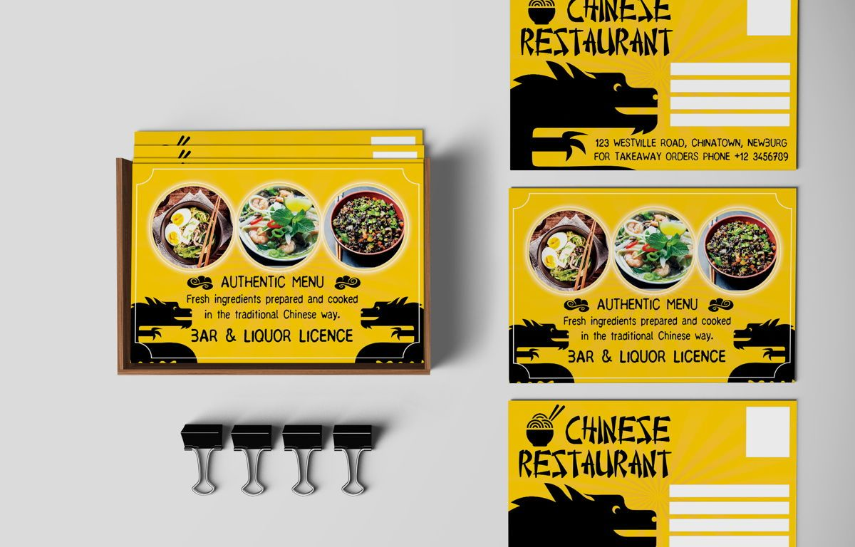 Chinese Food Restaurant PostCard Template, Slide 4, 08604, Food & Beverage — PoweredTemplate.com