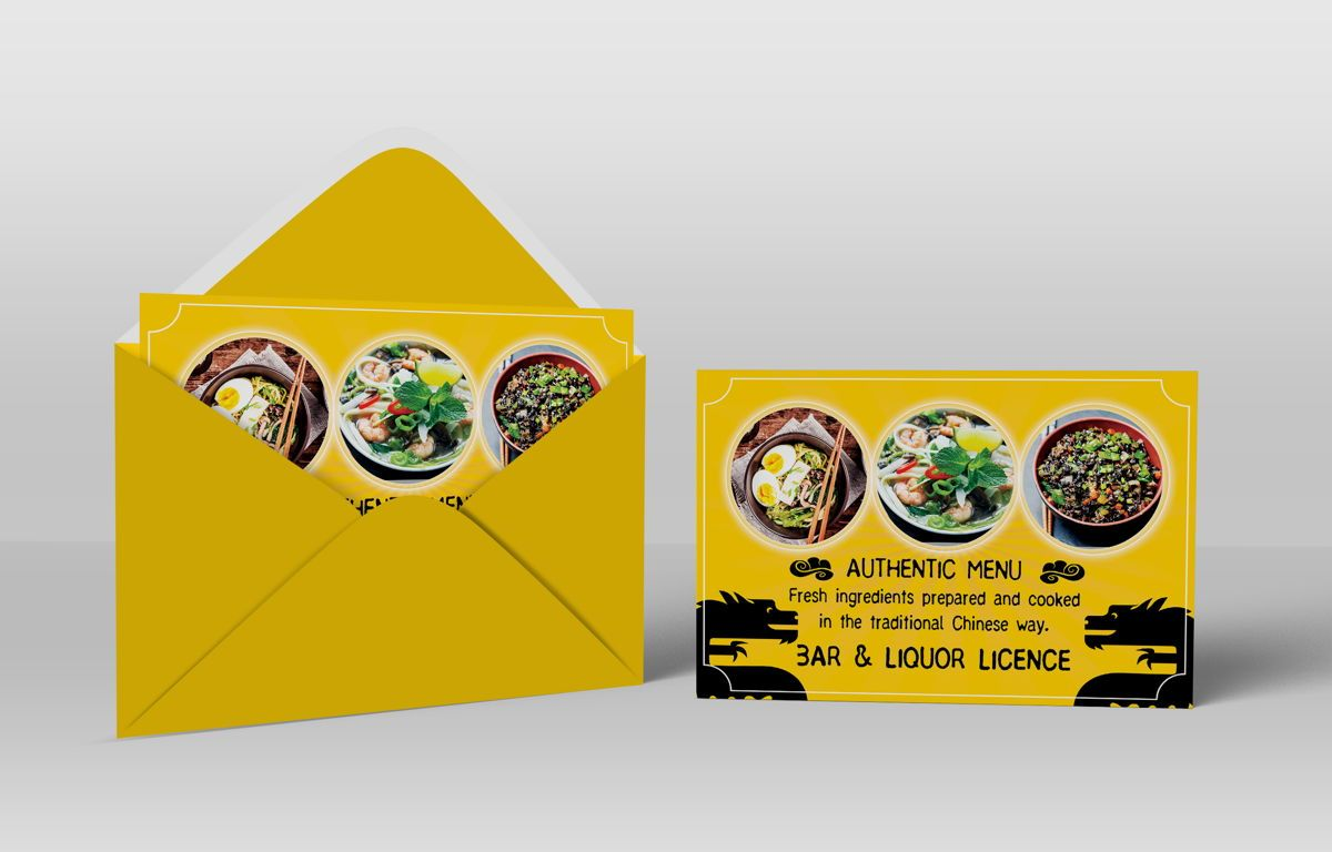 Chinese Food Restaurant PostCard Template, Slide 5, 08604, Food & Beverage — PoweredTemplate.com