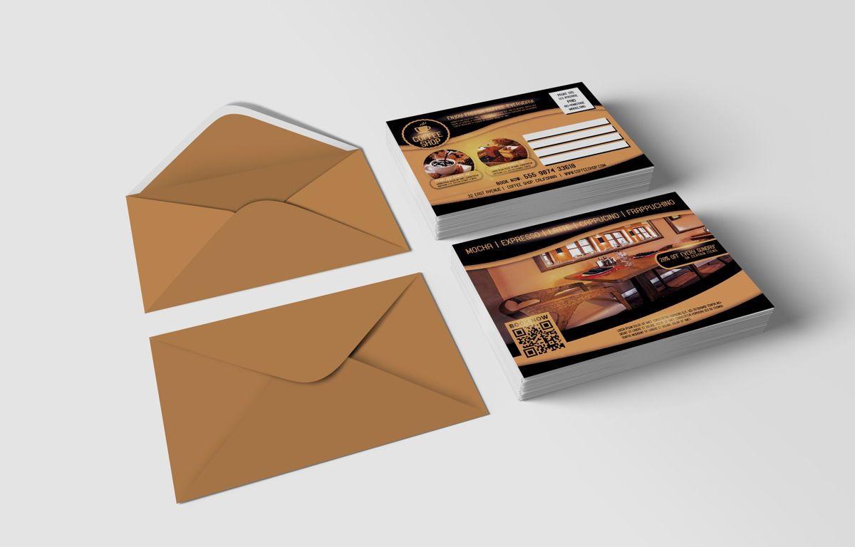 Coffee Shop PostCard Template, Slide 6, 08605, Food & Beverage — PoweredTemplate.com