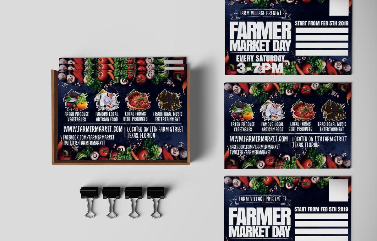 Farmer Market Day PostCard Template, Slide 2, 08606, Business — PoweredTemplate.com
