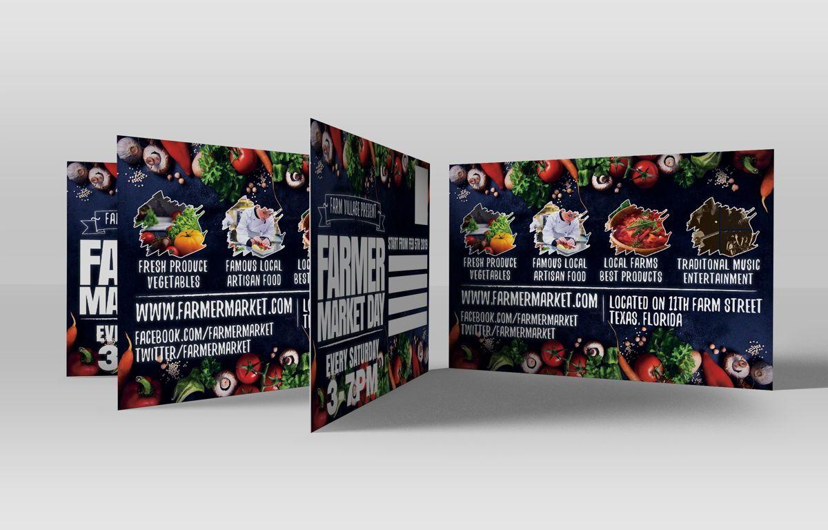 Farmer Market Day PostCard Template, Slide 4, 08606, Business — PoweredTemplate.com