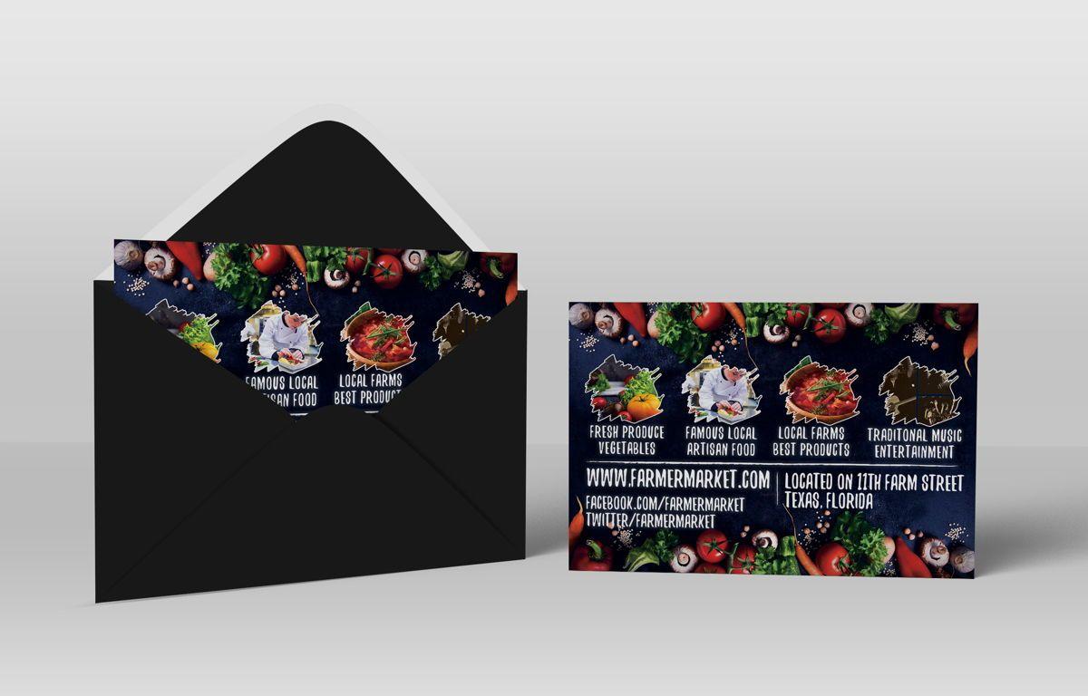 Farmer Market Day PostCard Template, Slide 5, 08606, Business — PoweredTemplate.com