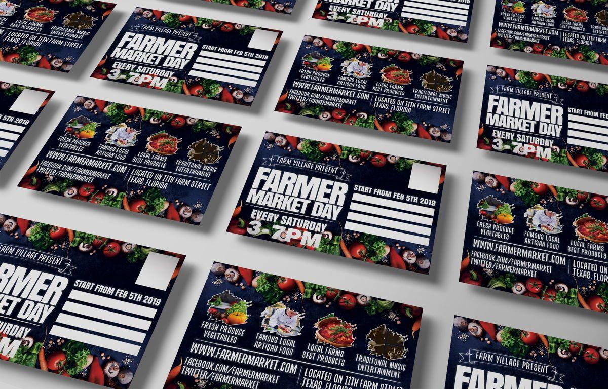 Farmer Market Day PostCard Template, Slide 6, 08606, Business — PoweredTemplate.com