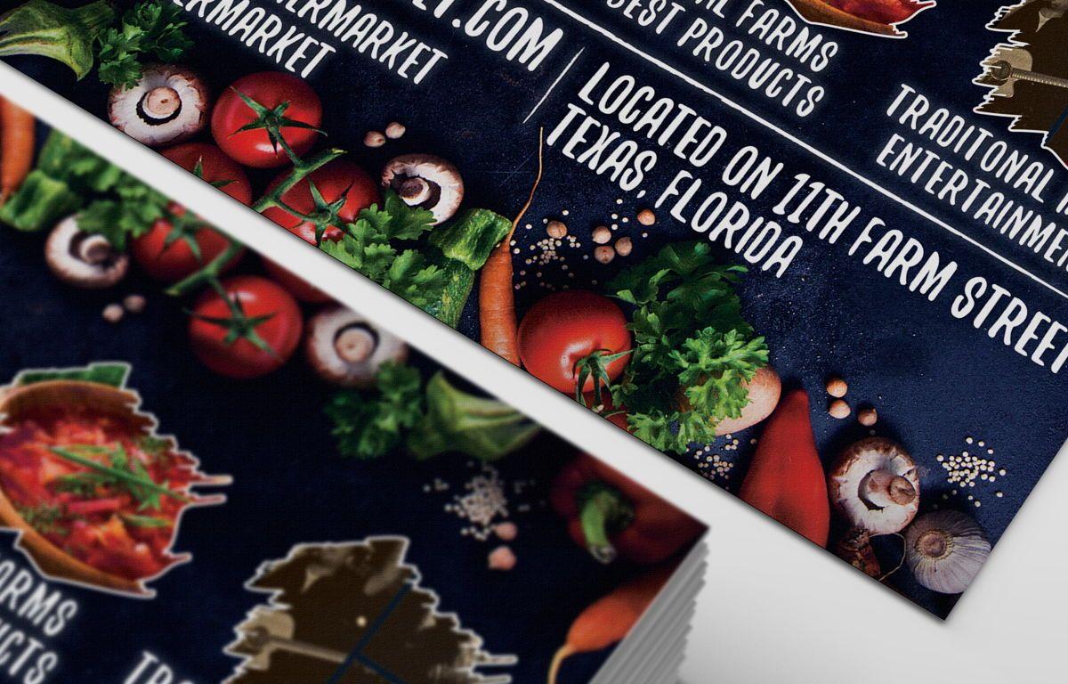 Farmer Market Day PostCard Template, Slide 7, 08606, Business — PoweredTemplate.com