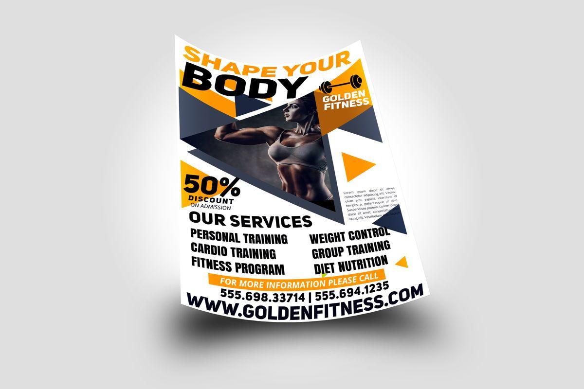 Fitness Flyer Template, 08607, Sports — PoweredTemplate.com
