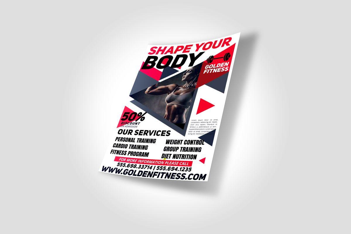 Fitness Flyer Template, Slide 2, 08607, Sports — PoweredTemplate.com
