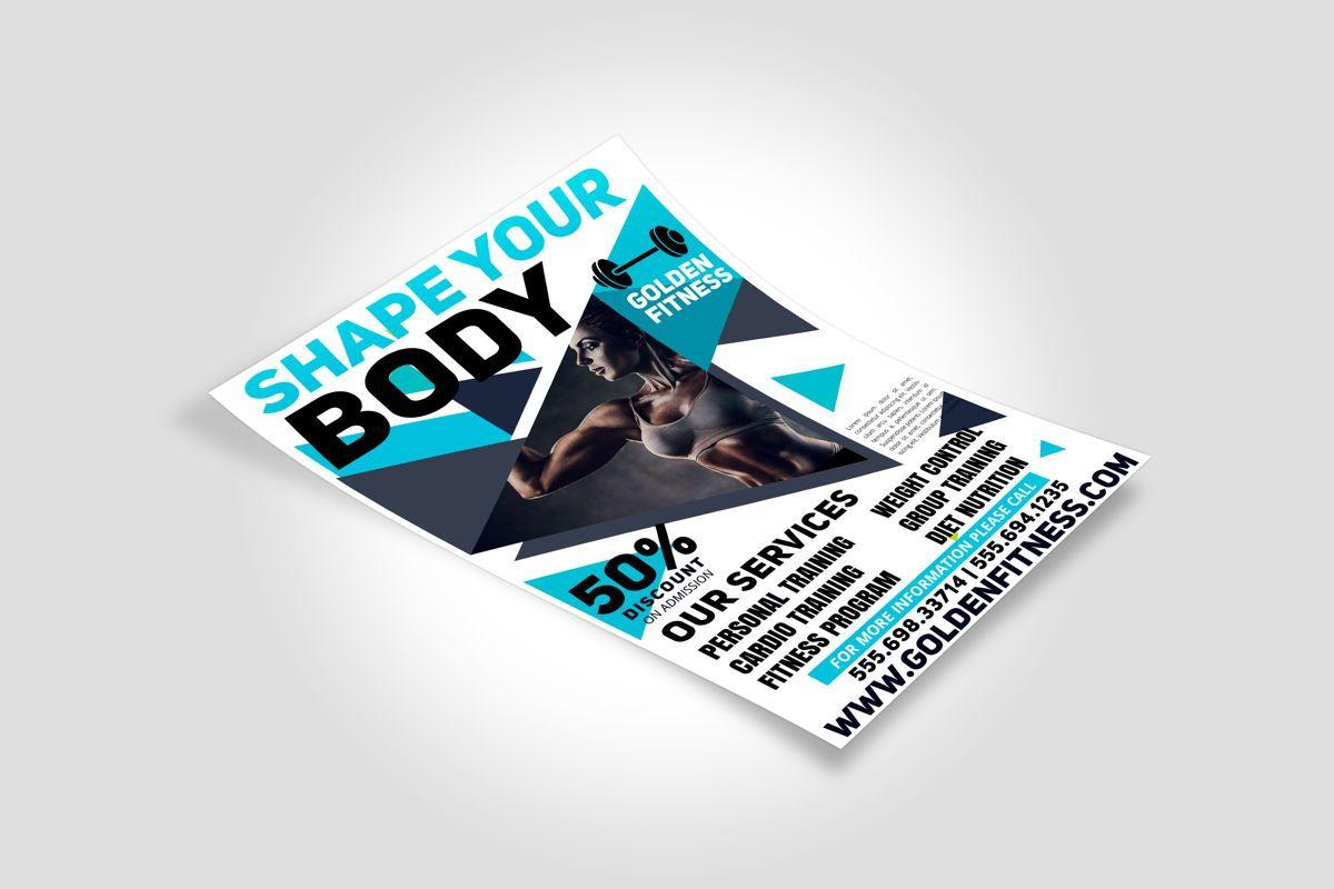 Fitness Flyer Template, Slide 3, 08607, Sports — PoweredTemplate.com