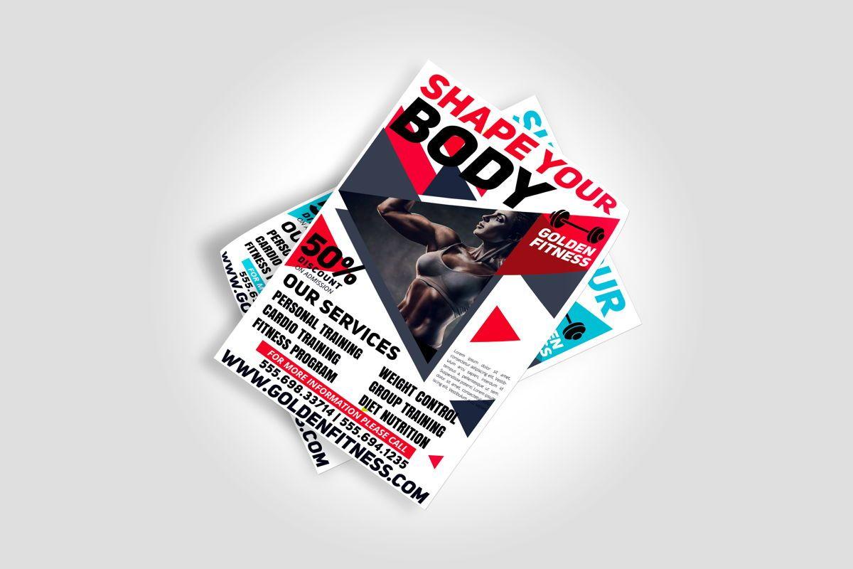Fitness Flyer Template, Slide 5, 08607, Sports — PoweredTemplate.com
