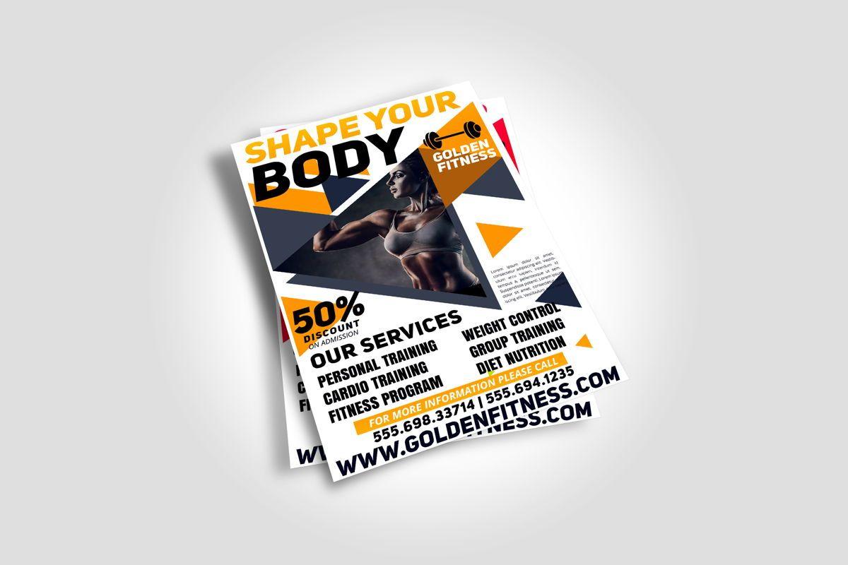 Fitness Flyer Template, Slide 6, 08607, Sports — PoweredTemplate.com