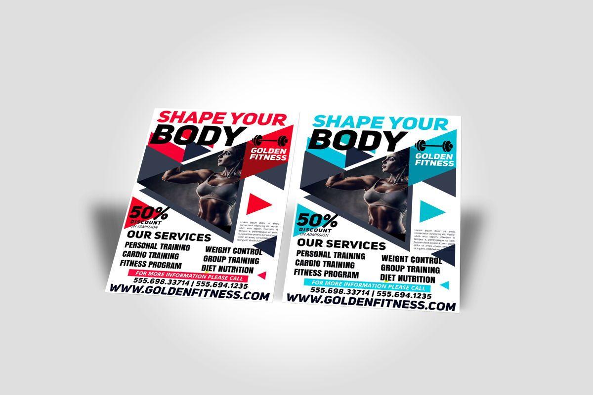 Fitness Flyer Template, Slide 7, 08607, Sports — PoweredTemplate.com