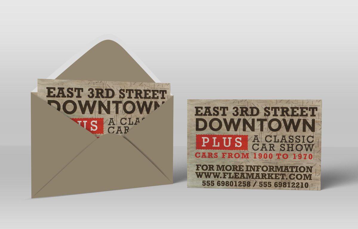 Flea Market PostCard Template, 08608, Business — PoweredTemplate.com