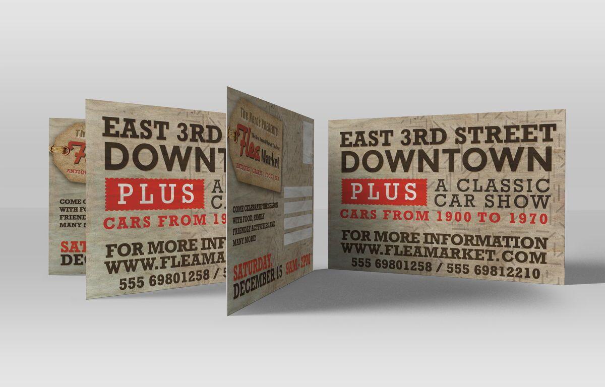 Flea Market PostCard Template, Slide 3, 08608, Business — PoweredTemplate.com