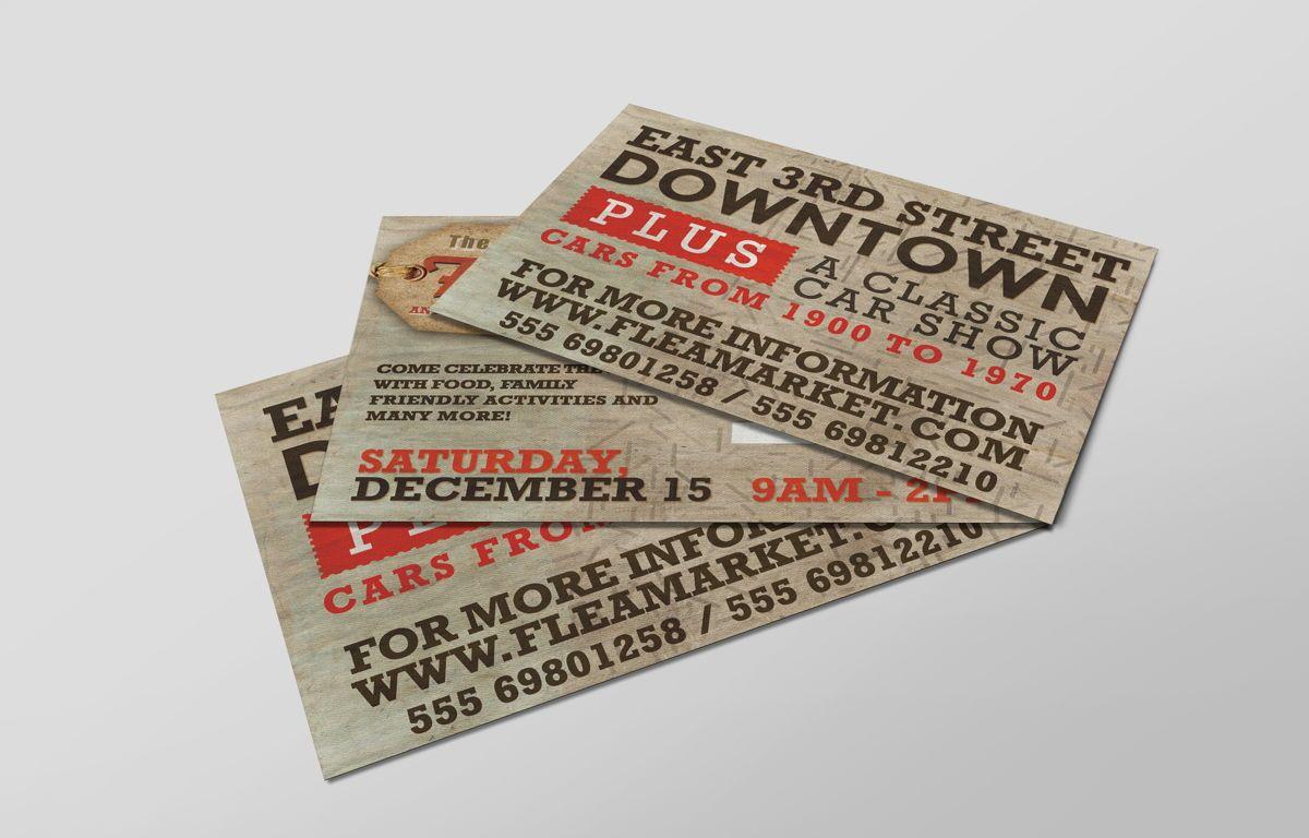 Flea Market PostCard Template, Slide 5, 08608, Business — PoweredTemplate.com