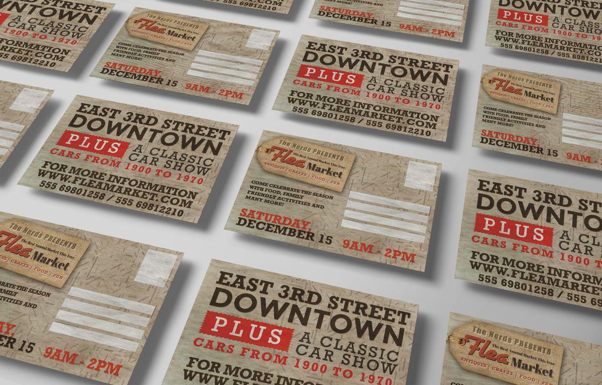 Flea Market PostCard Template, Slide 6, 08608, Business — PoweredTemplate.com
