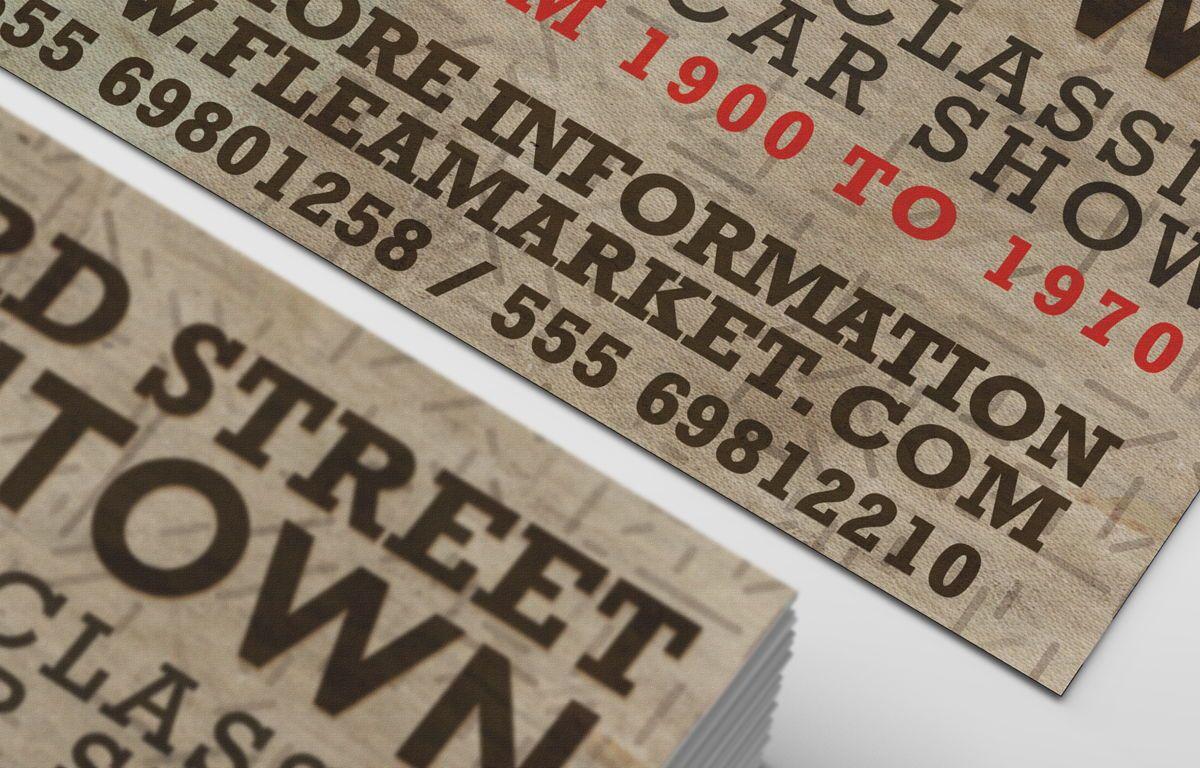 Flea Market PostCard Template, Slide 7, 08608, Business — PoweredTemplate.com
