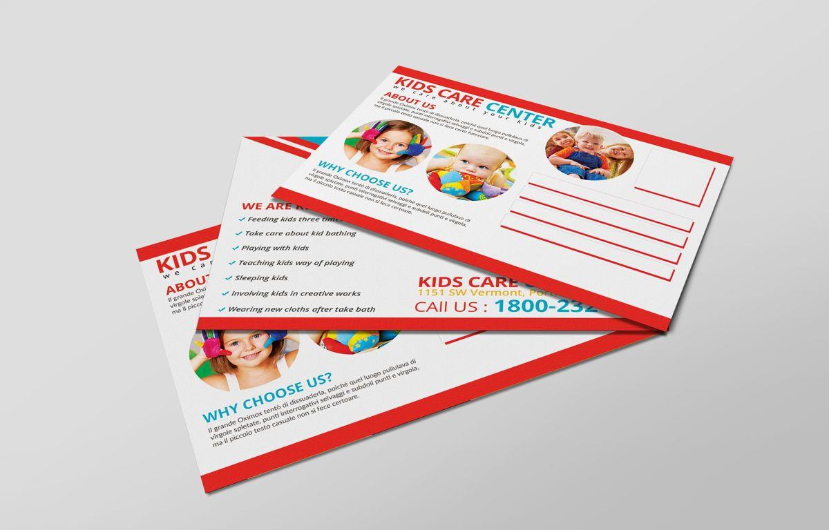 Kids Care Center PostCard, 08610, Business — PoweredTemplate.com