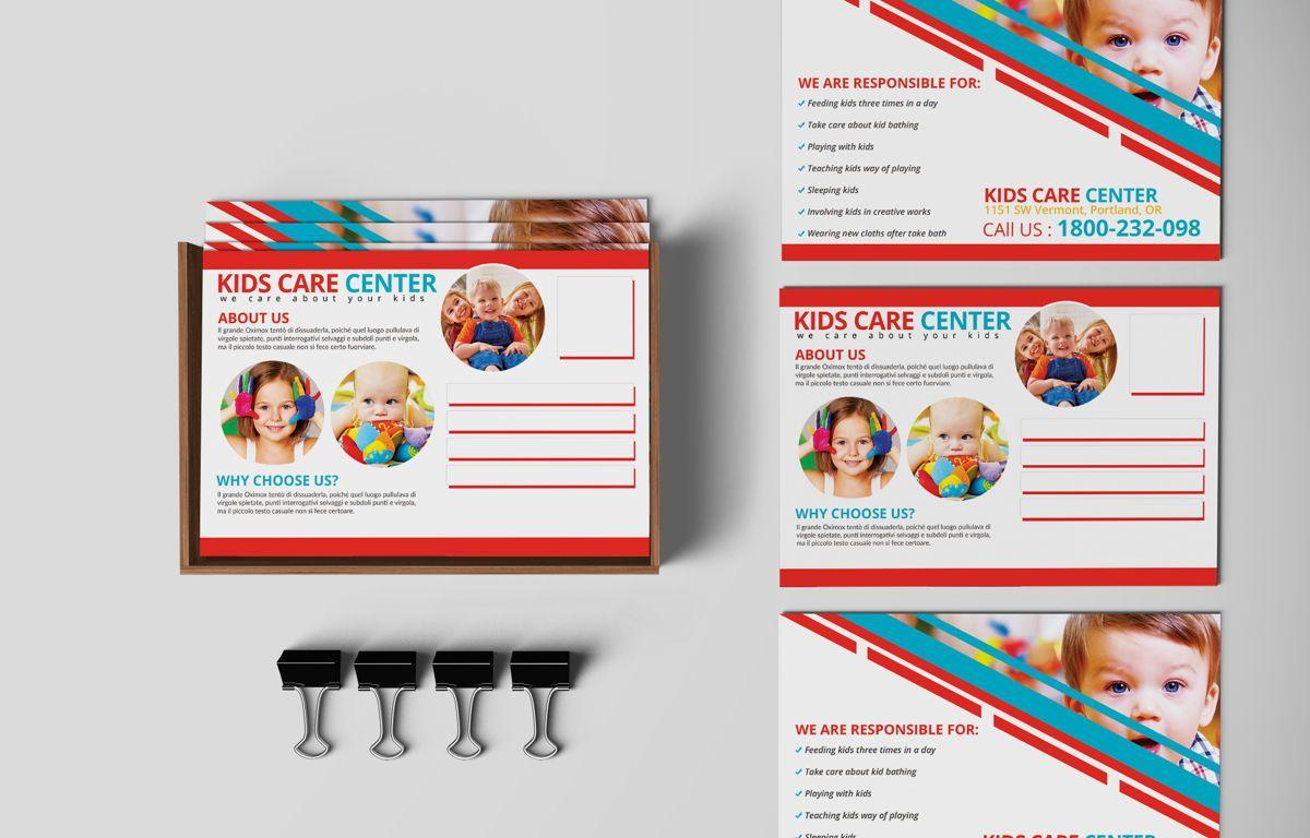 Kids Care Center PostCard, Slide 2, 08610, Business — PoweredTemplate.com