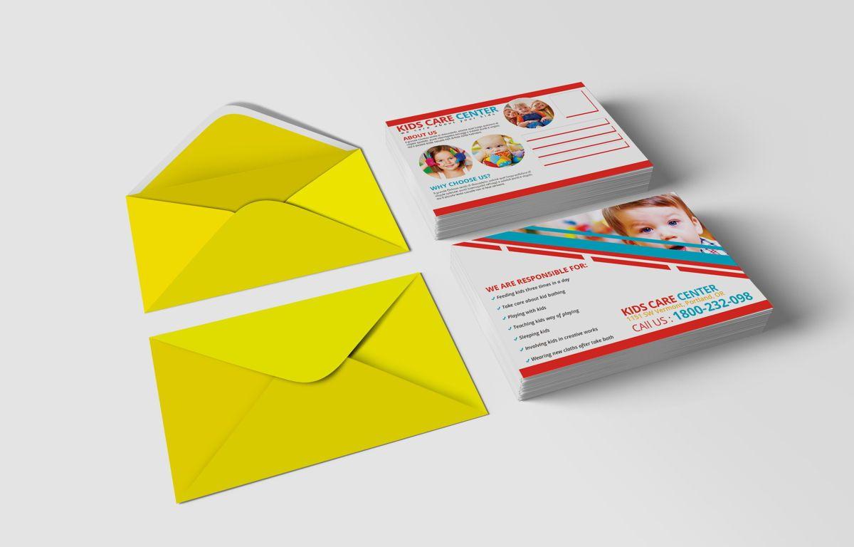 Kids Care Center PostCard, Slide 3, 08610, Business — PoweredTemplate.com