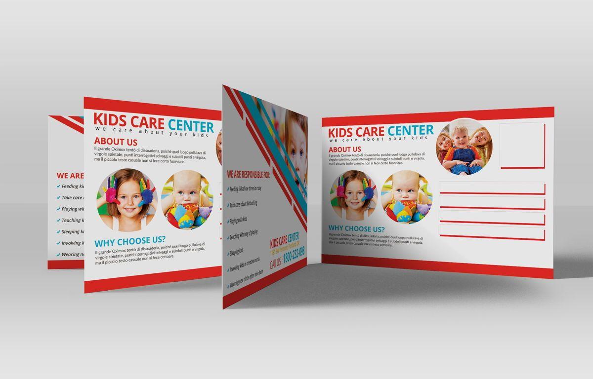 Kids Care Center PostCard, Slide 4, 08610, Business — PoweredTemplate.com