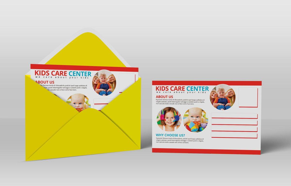 Kids Care Center PostCard, Slide 5, 08610, Business — PoweredTemplate.com