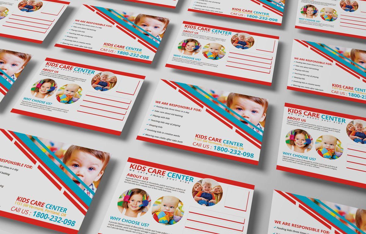 Kids Care Center PostCard, Slide 6, 08610, Business — PoweredTemplate.com