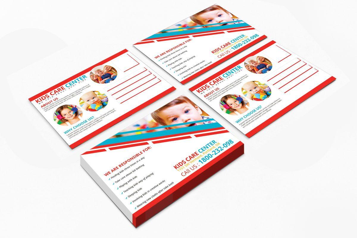 Kids Care Center PostCard, Slide 8, 08610, Business — PoweredTemplate.com