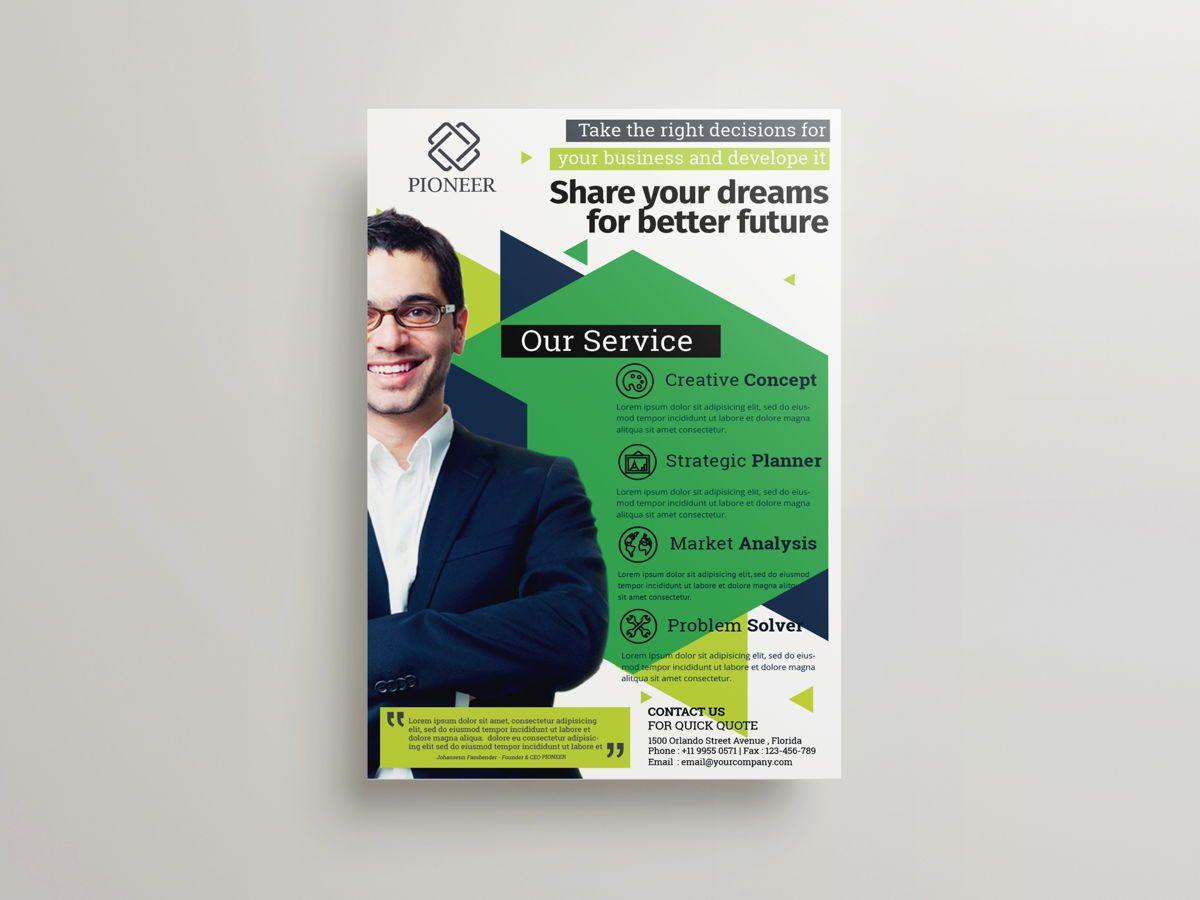 Minimalist Corporate Flyer Template, Diapositive 2, 08611, Business — PoweredTemplate.com