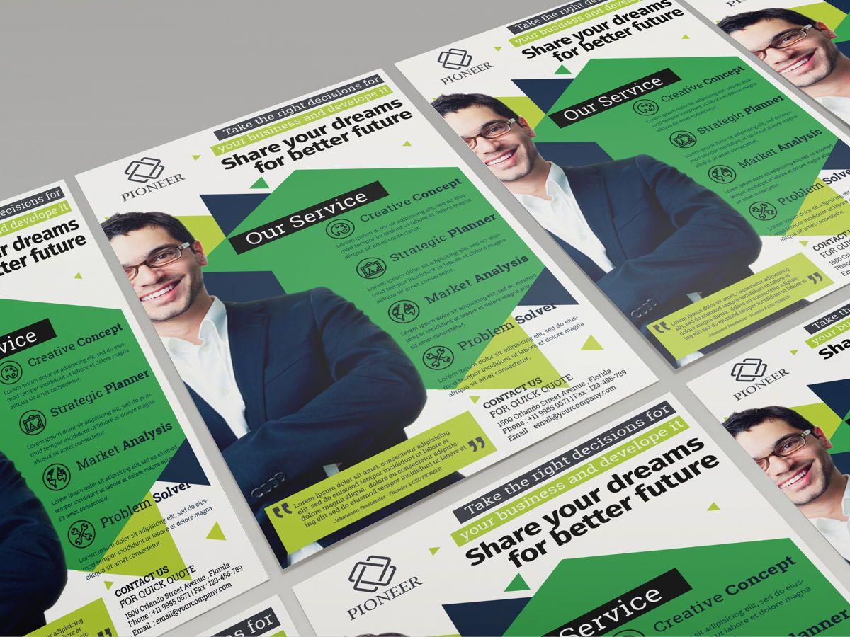 Minimalist Corporate Flyer Template, Diapositive 3, 08611, Business — PoweredTemplate.com
