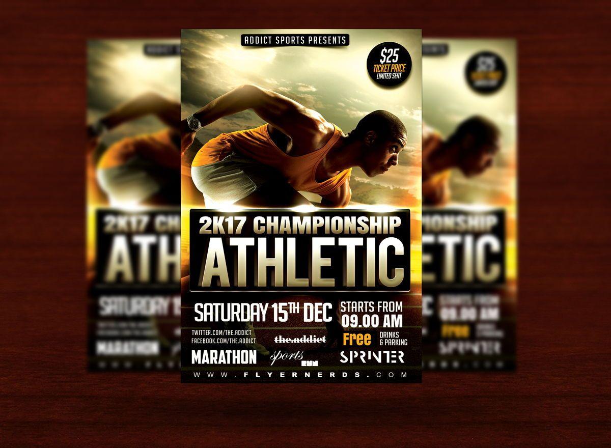 Athletic Sports Flyer Template, Slide 3, 08614, Sports — PoweredTemplate.com