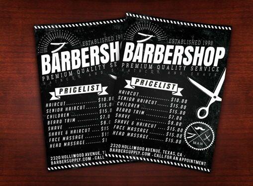 Business: Barbershop Flyer Template #08615