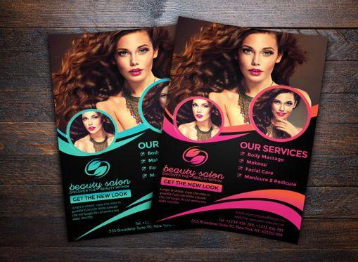 Business: Beauty Salon Flyer Template #08616