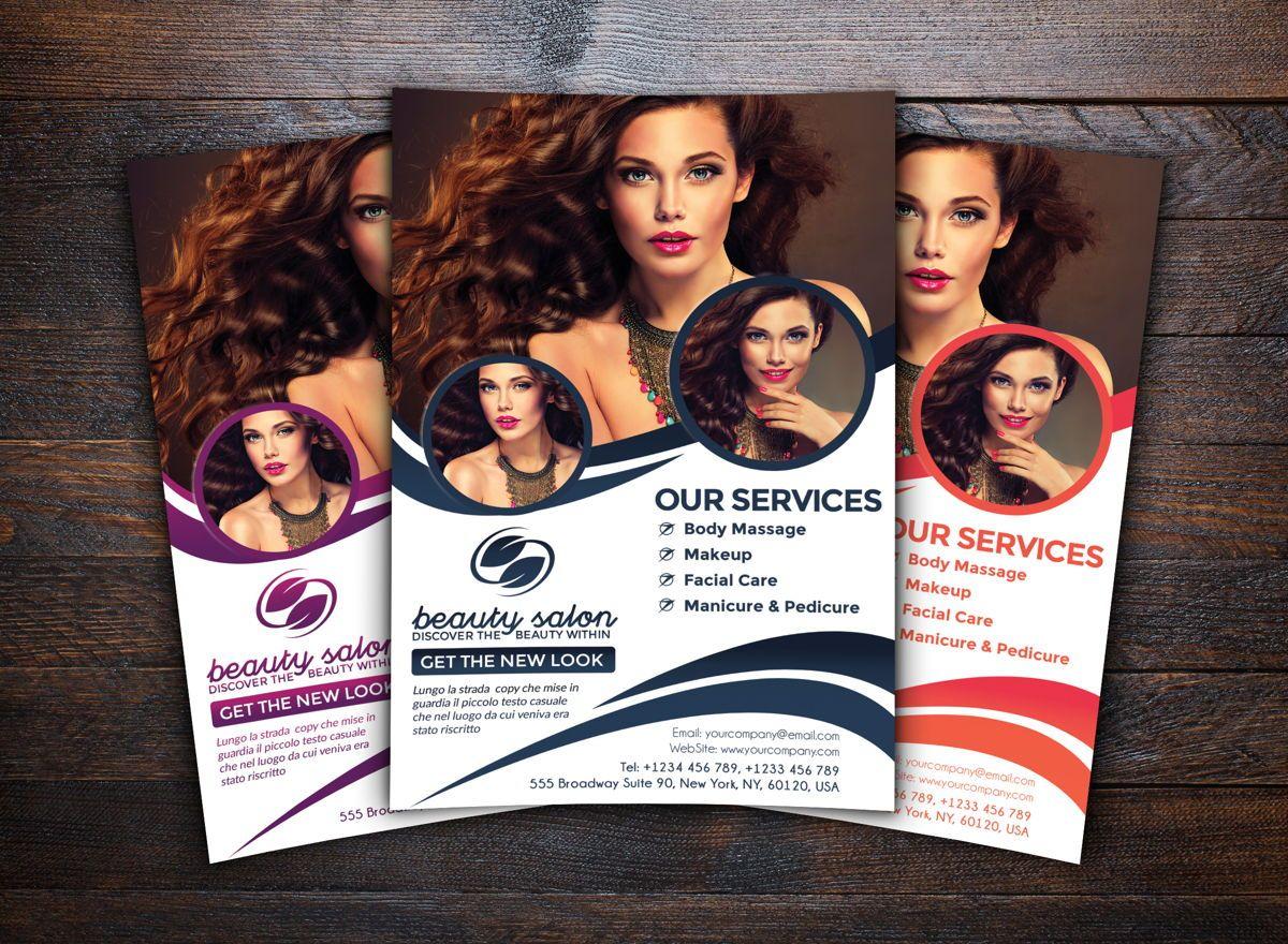 Beauty Salon Flyer Template Folheto Farel Toto Pratama Poweredtemplate
