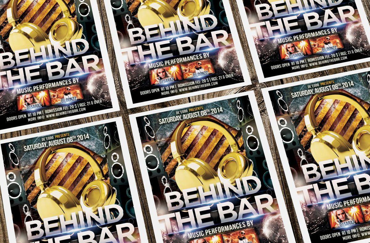 Behind The Bar Party Flyer Template, Slide 3, 08617, Art & Entertainment — PoweredTemplate.com