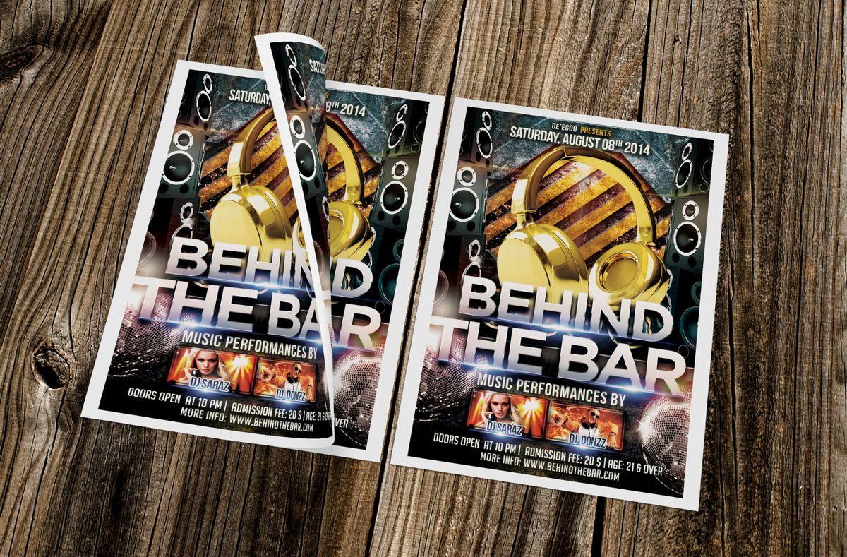 Behind The Bar Party Flyer Template, Slide 4, 08617, Art & Entertainment — PoweredTemplate.com