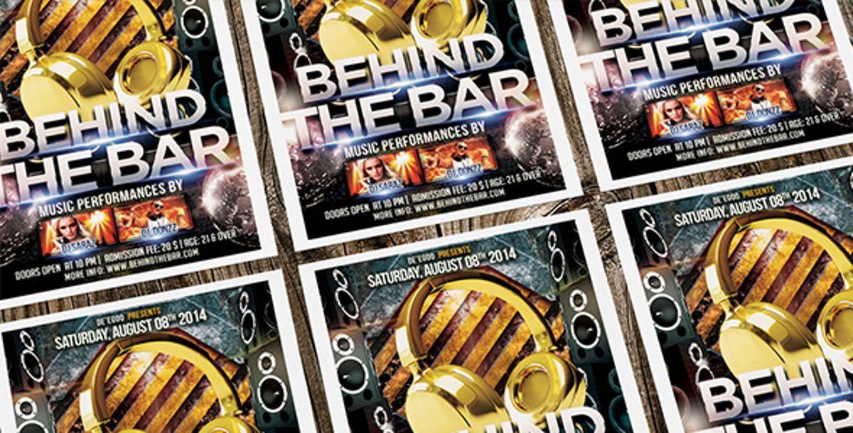 Behind The Bar Party Flyer Template, Slide 5, 08617, Art & Entertainment — PoweredTemplate.com