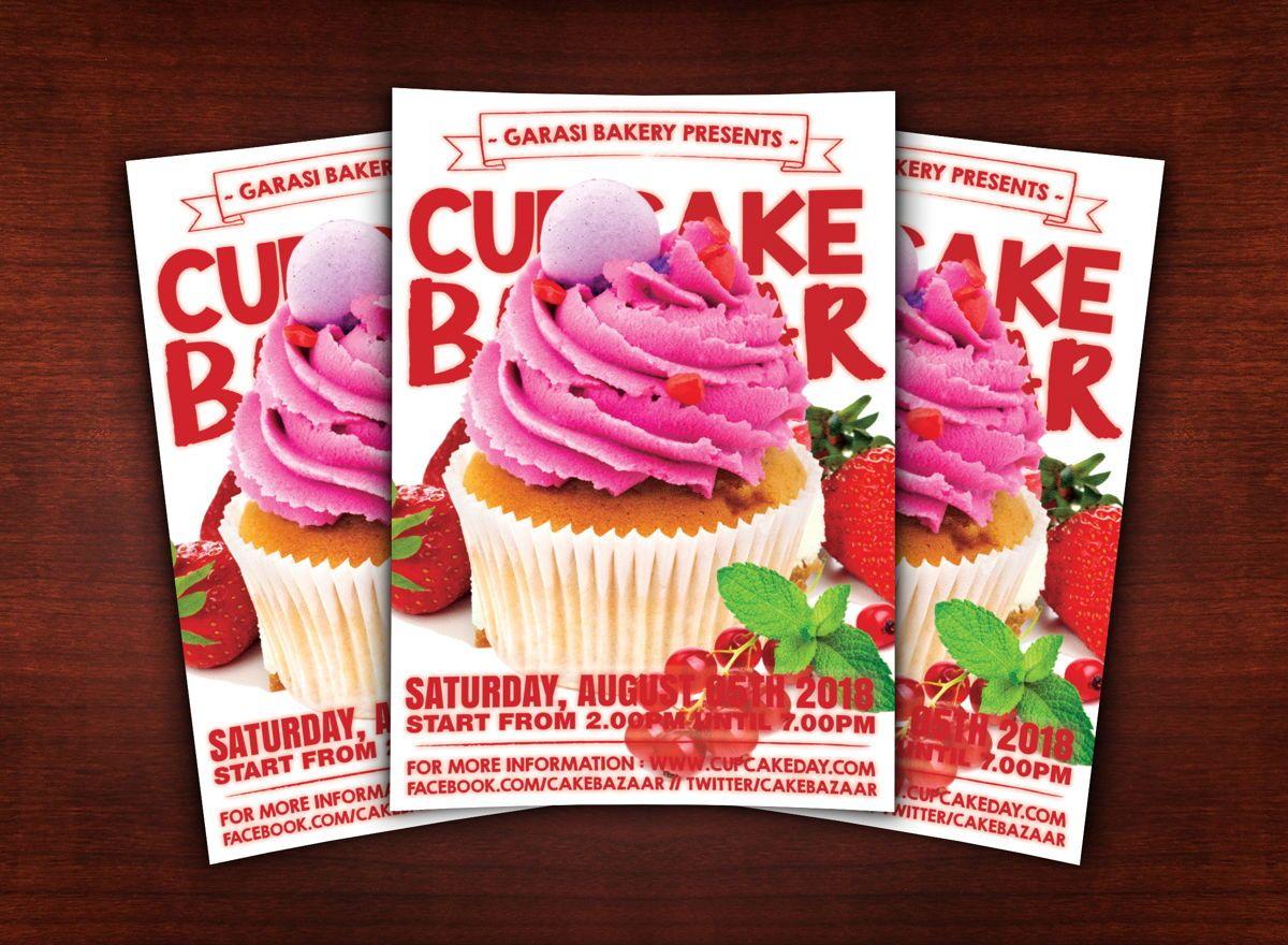Cake Store Flyer Template, 08618, Food & Beverage — PoweredTemplate.com