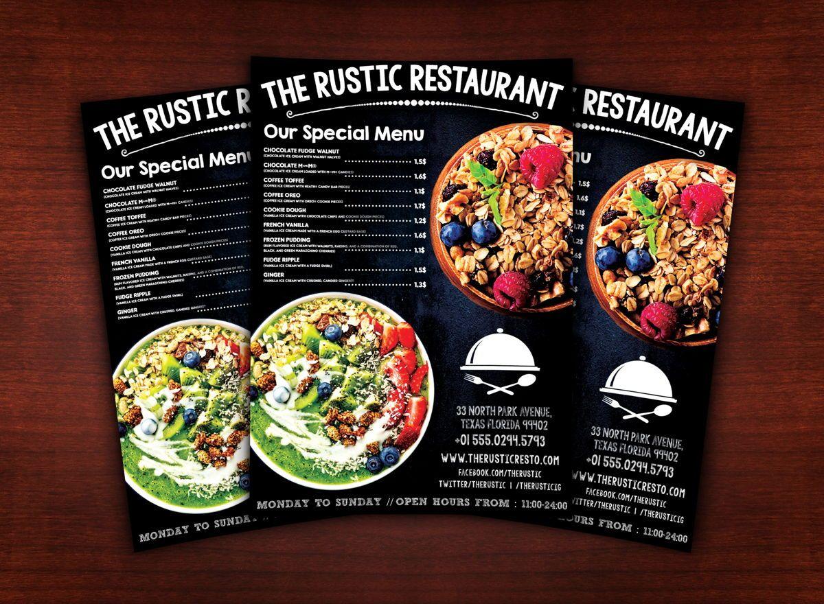 Chalk Styles Restaurant Flyer Template, Slide 2, 08619, Food & Beverage — PoweredTemplate.com