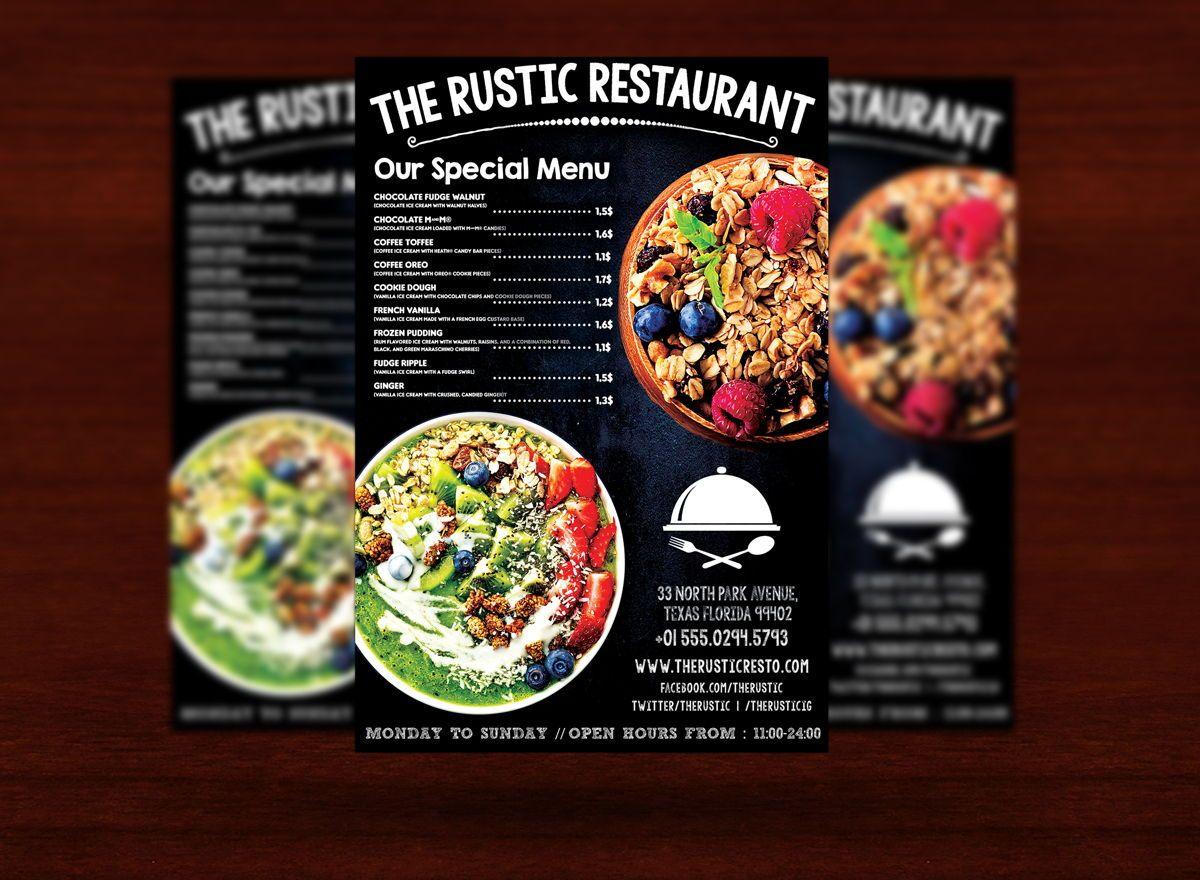 Chalk Styles Restaurant Flyer Template, Slide 3, 08619, Food & Beverage — PoweredTemplate.com