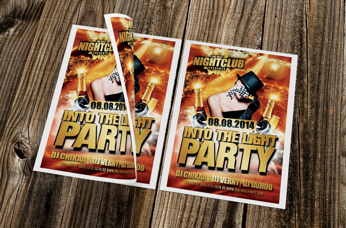 Into The Light Party Flyer Template, Slide 2, 08620, Art & Entertainment — PoweredTemplate.com