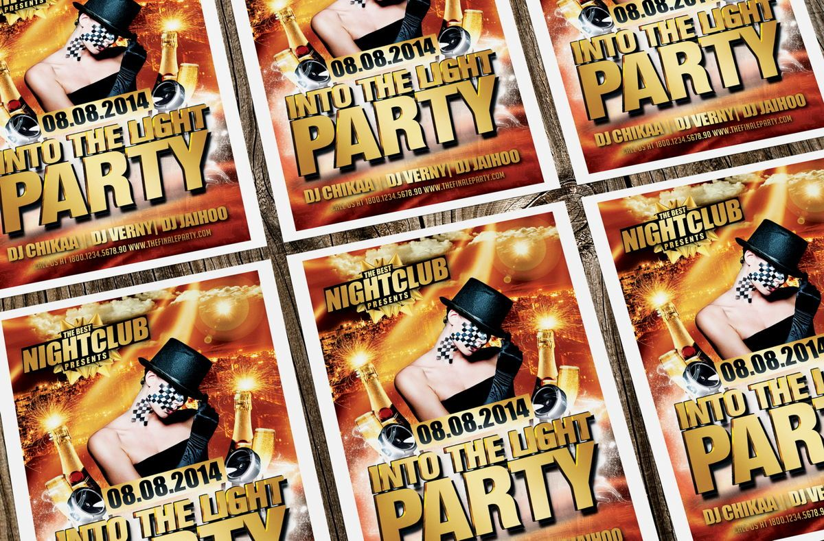 Into The Light Party Flyer Template, Slide 4, 08620, Art & Entertainment — PoweredTemplate.com
