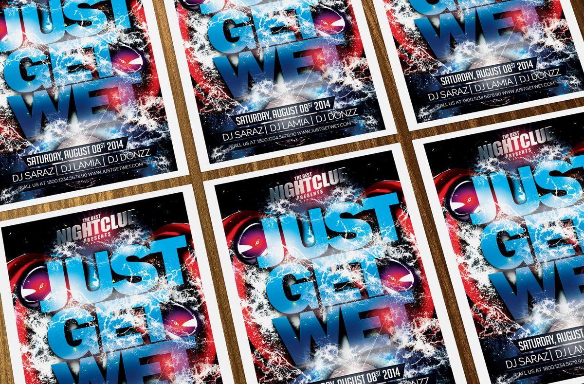 Just Get Wet Party Flyer Template, Slide 3, 08621, Art & Entertainment — PoweredTemplate.com