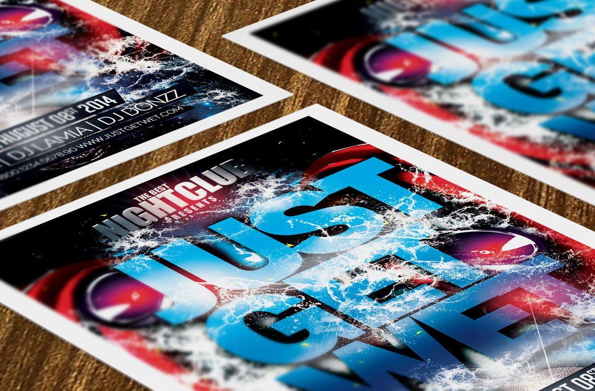 Just Get Wet Party Flyer Template, Slide 4, 08621, Art & Entertainment — PoweredTemplate.com
