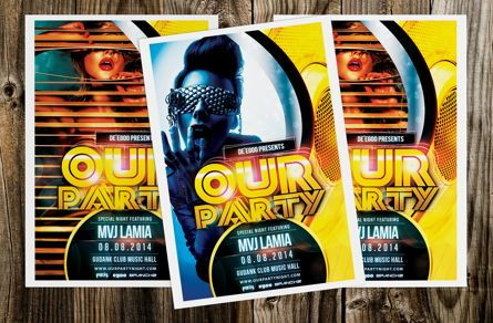 Art & Entertainment: Our Party Flyer Template #08624