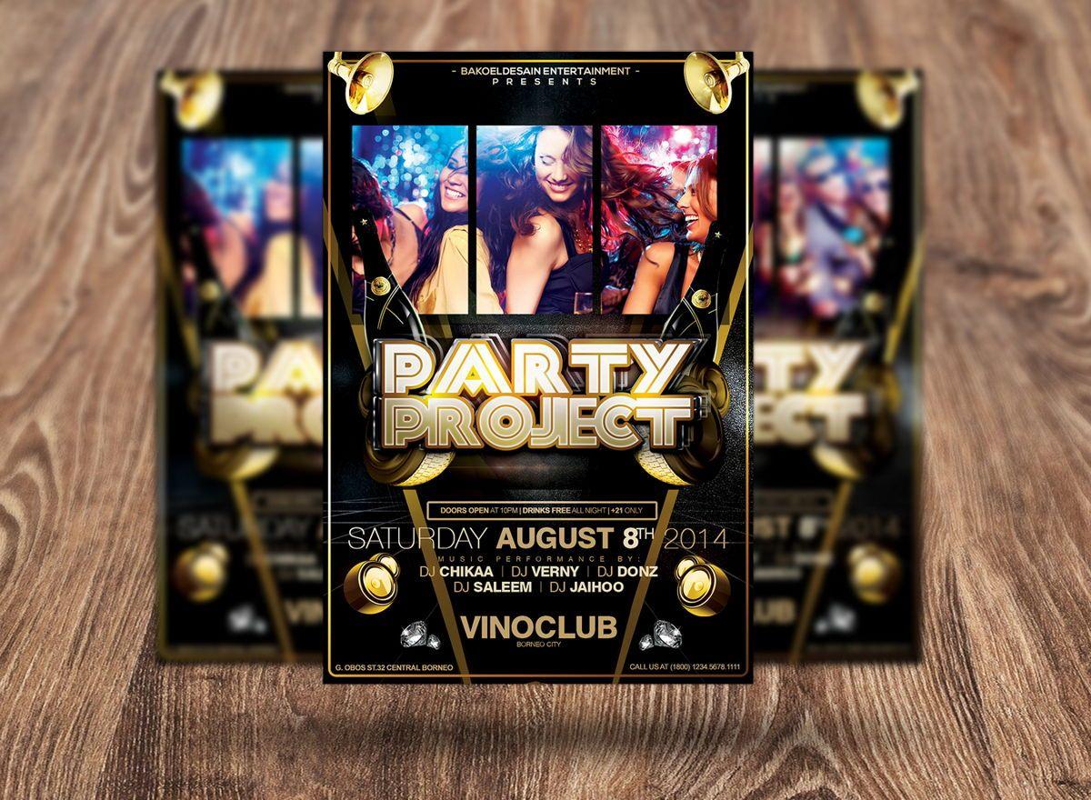 Party Project Flyer Template, Slide 3, 08625, Art & Entertainment — PoweredTemplate.com